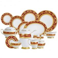 Фарфор Imperial Gold - Полный Набор на 6 Персон Бордо (40 Единиц) от Цептер