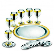 Набор бокалов Принц - с серебряным покрытием и золотым декором от Цептер