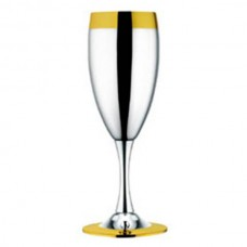 Набор из 6 шт фужеров для шампанского Ла Перле- посеребренный с золотым декором от Цептер