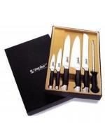 Комплект ножей Профессионал с пластиковыми ручками LZ-102-PH