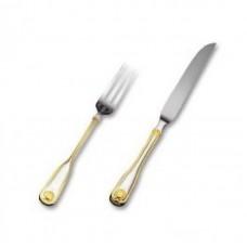 Венус - набор для стейка на 6 персон с золотым декором LB-240-DG