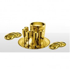 Ла Перле - набор для шампанского с позолотой на 6 персон LS-120-GP