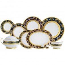 Фарфор Imperial Gold - Набор для Ужина 6 Персон Кобальт (25 Единиц) от Цептер