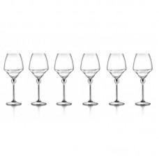 Волшебная Гармония - бокалы для белого вина с металлическими ножками 6шт. LS-023-1