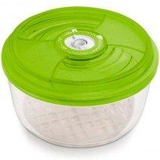 Стеклянный контейнер круглый Ø23x10,5 см 3,3 л зеленый