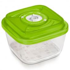 Стеклянный контейнер 15x15x8,5 см 1,1 л зеленый