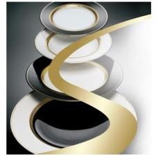 Блэк-энд-Уайт - тарелки-подставки, 32 см (6 пр.) LPB6-32 - Black & White