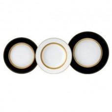 Фарфор Black & White - Набор для Ужина Дополнение Черно-Белые (18 Единиц) от Цептер