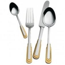 Каприз - Набор столовых приборов с золотым декором LB-306-PG