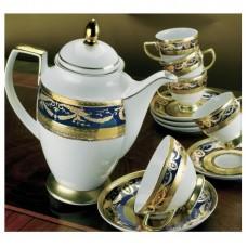 Империал Голд Кобальт - кофейный сервиз на 6 персон (15 пр.) LPI6-KACO - Imperial Gold