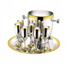 Ла Перле - Набор для шампанского c золотым декором LS-120-DG