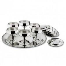Барон - Набор для шампанского посеребренный LS-163-А