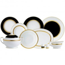 Фарфор Black & White - Набор для Ужина на 12 Персон Черно-Белые (43 Единицы) от Цептер