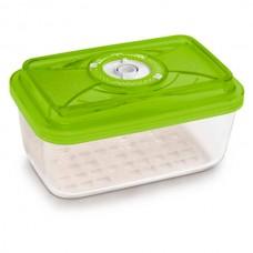 Стеклянный контейнер продолговатый 20x13x8,5 см 1,5л зеленый