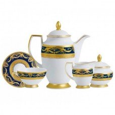 Фарфор Imperial Gold - Кофейный Набор 6 Персон Кобальт (15 Единиц) от Цептер