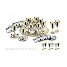 Принц - посеребренный комплект с золотым декором LS-173-DG