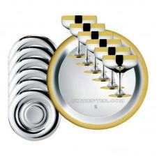 Барон - посеребренный набор для шампанского с золотым декором LS-163-A-DG