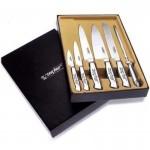 Комплект ножей кухонных с металлическими ручками LZ-104-ZK