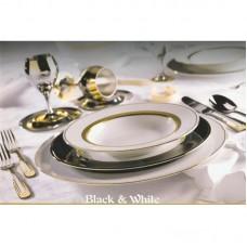 Блэк-энд-Уайт - столовый сервиз на 12 персон (43 пр.) LPB2-TA - Black & White