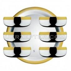 Барон - Десертный набор с золотым узором LS-160-B-DG