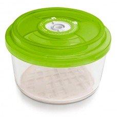 Стеклянный контейнер круглый Ø18x9,5 см 1,8 л зеленый