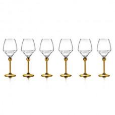 Бокалы для белого вина с золотым декором на ножках - 6 ед. от Цептер