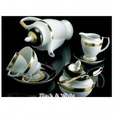 Блэк-энд-Уайт - полный сервиз на 6 персон (40 пр.) LPB6 - Black & White