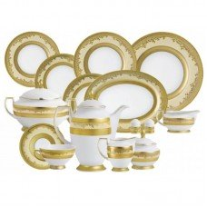 Фарфор Royal Gold - Набор для Ужина 12 Персон Кремовый (43 Единицы) от Цептер