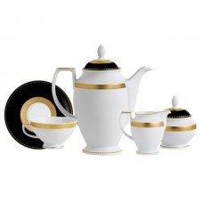 Фарфор Black & White - Кофейный Набор 6 Персон Черно-Белые ( 15 Единиц ) от Цептер