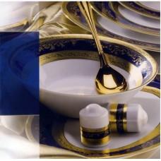 Роял Голд Кобальт - столовый сервиз на 12 персон (43 пр.) LPR2-TACO - Royal Gold