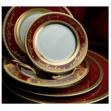 Роял Голд Бордо - полный сервиз на 12 персон (70 пр.) LPR2-BR - Royal Gold