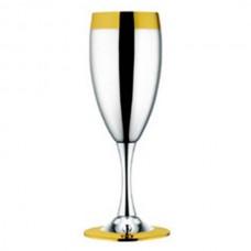 Фужеры для шампанского Ла Перле 6 шт - с золотым декором от Цептер