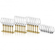 Полный набор из 24 бокалов - декор золото от Цептер