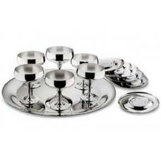 Набор бокалов для шампанского Барон - нержавеющая сталь от Цептер