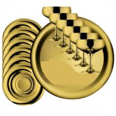 Набор бокалов для шампанского Барон - позолоченный от Цептер