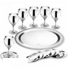 Набор бокалов для вина Принц - нержавеющая сталь от Цептер