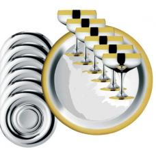 Набор бокалов Барон для шампанского - с золотым декором от Цептер