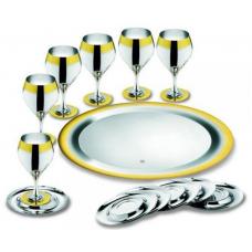 Набор бокалов для вина Принц - с золотым декором от Цептер